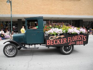 Becker Florists at Frontier Days Parade 2012