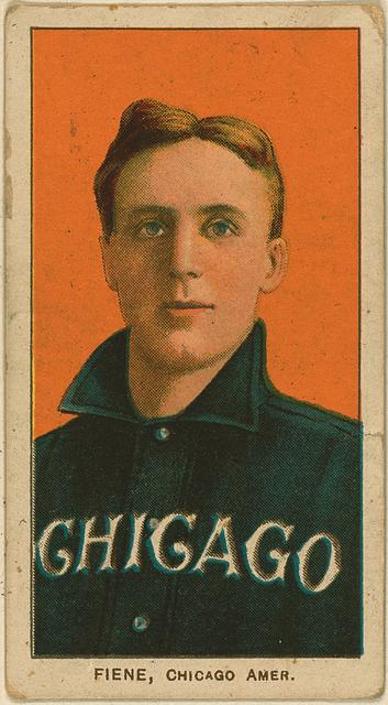 Picture of Louis Fiene from the Library of Congress. Source: Baseball cards from the Benjamin K. Edwards Collection. Issued by the American Tobacco Company.